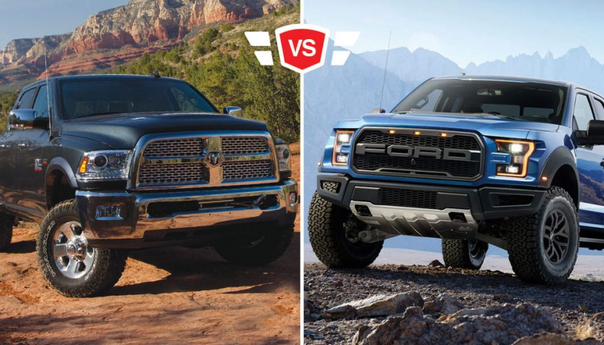 ford f 150 raptor head to head with the ram power wagon. Black Bedroom Furniture Sets. Home Design Ideas