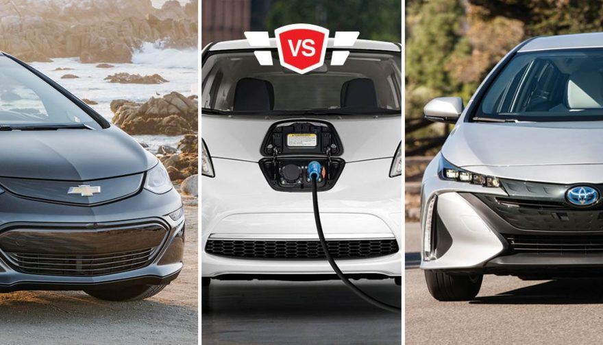 nissan leaf vs toyota prius prime vs chevy bolt ev comparison. Black Bedroom Furniture Sets. Home Design Ideas