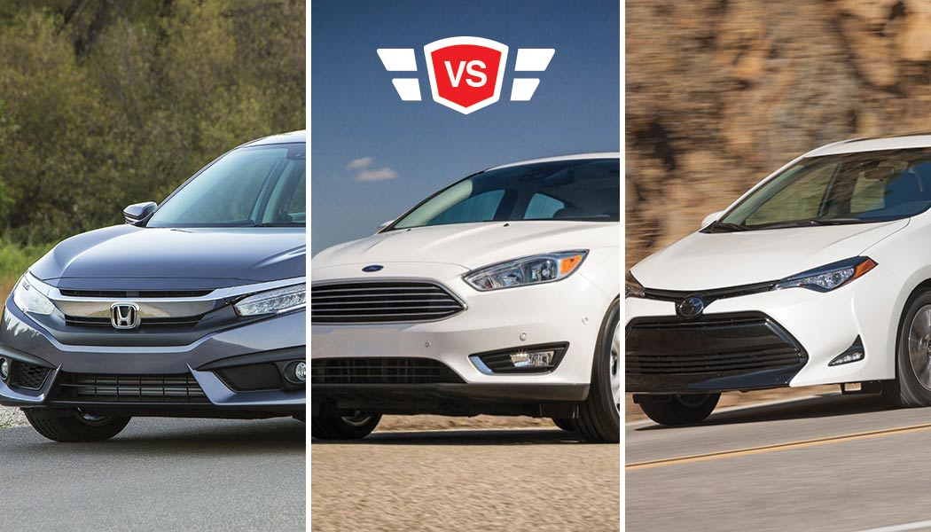 Honda Civic Vs Toyota Corolla Ford Focus Best Compact Car